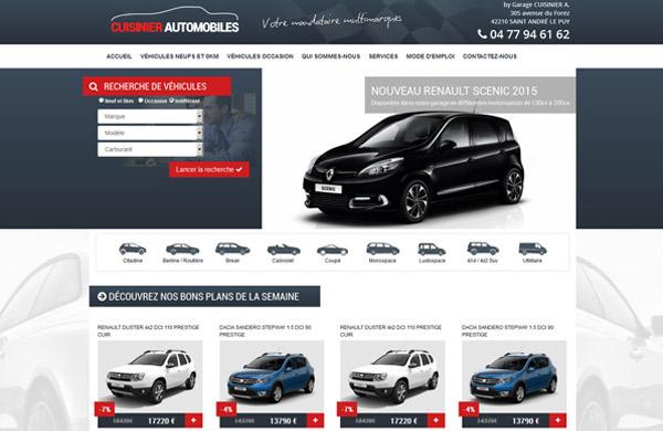 Cr ation de site internet pour importateur et mandataire for Site internet pour garage automobile